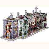 Diagon Alley 3D Puzzle, finished puzzle at angle