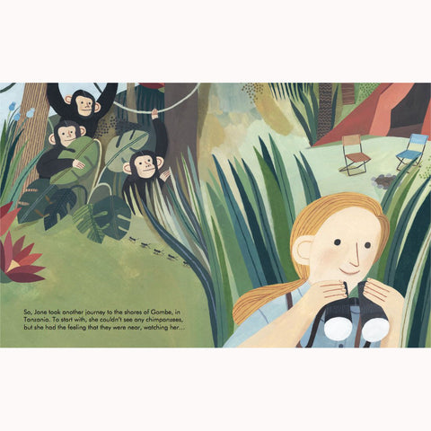 Jane Goodall - Little People, Big Dreams Picture Book, page detail