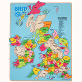 Wooden British Isles Inset Puzzle, pieces displaced