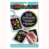 Key Chain Scratch Art Party Pack, package