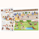 Create Your Happy Horses Sticker Book, inside page and stickers