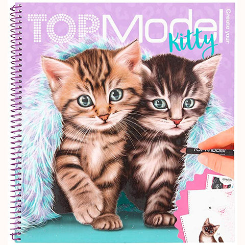 Create Your Top Model Kitty Colouring Book, front cover