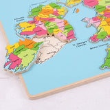 Wooden British Isles Inset Puzzle, detail of Ireland in displaced piece
