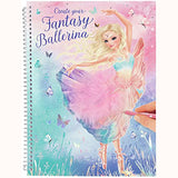Create Your Fantasy Ballerina Colouring & Sticker Book, front cover view