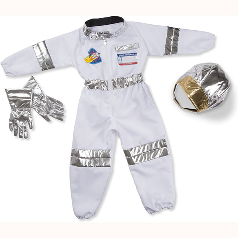 astronaut role play costume out of packaging