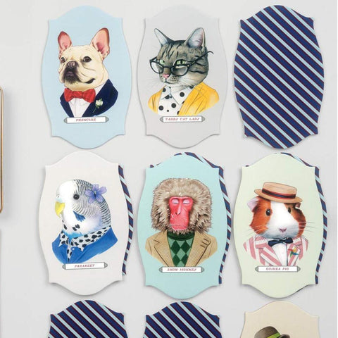 Animal Portraits Memory Game, cards in play