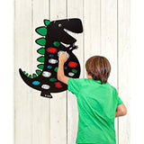 Dinosaur Chalkboard, boy drawing