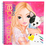 Create Your Top Model Doggy Colouring Book, front cover