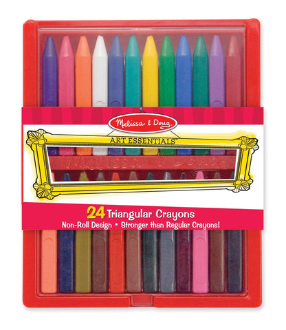 24 Triangular Crayons, in case