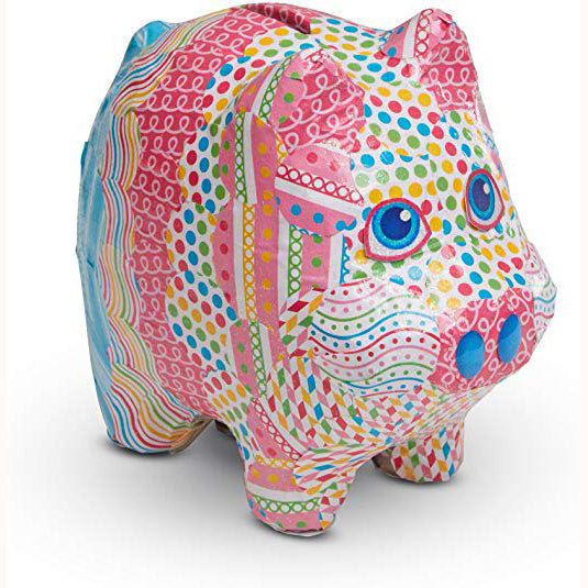 Piggy Bank - Decoupage Made Easy, finished piggy