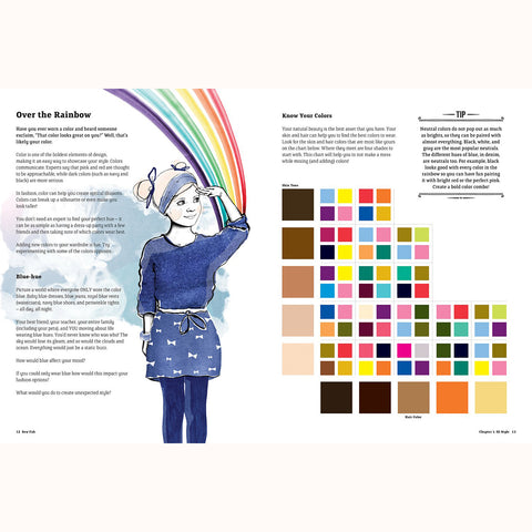 Sew Fab - over the rainbow colour page