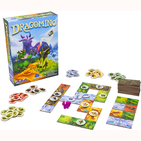 Dragomino box, mummy dragon, tiles and baby dragons 2