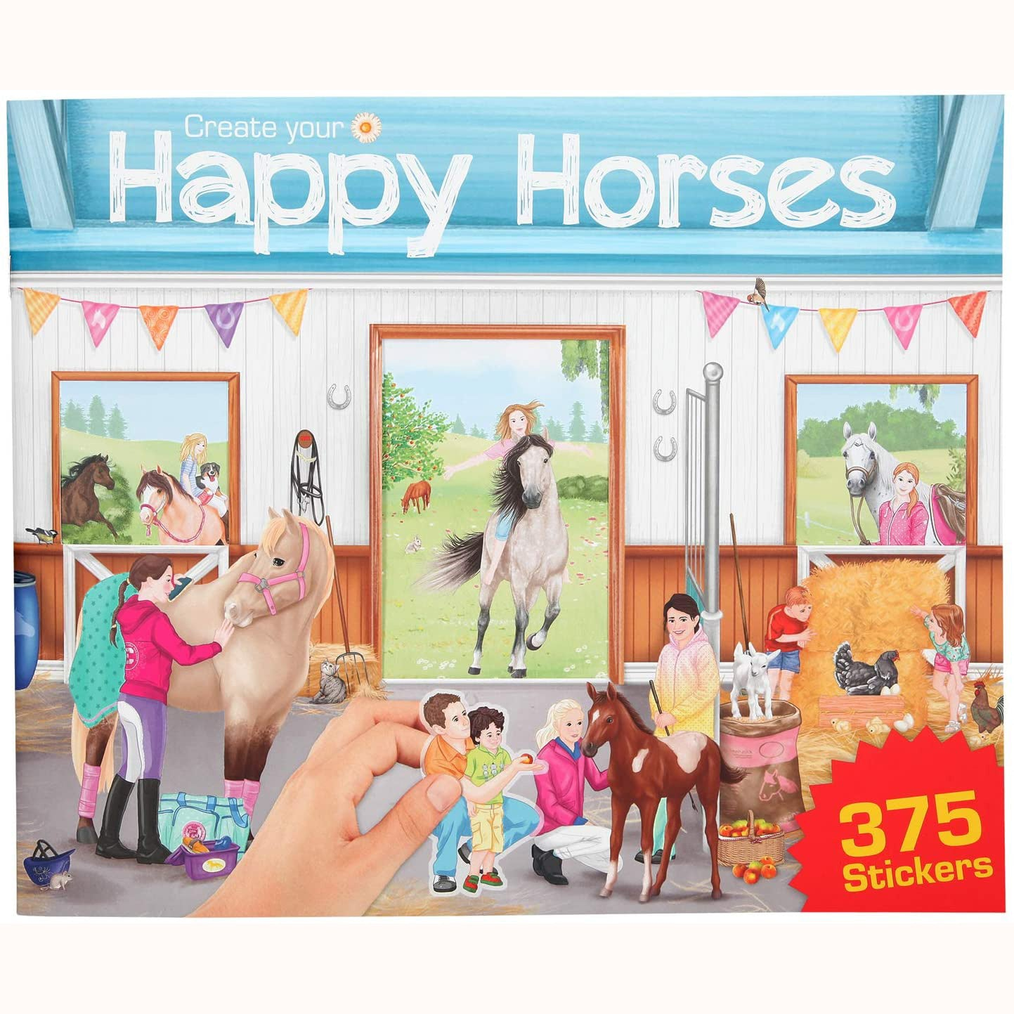 Create Your Happy Horses Sticker Book, front cover