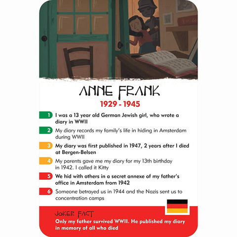 History Heroes - Children, Anne Frank card