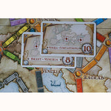 Ticket To Ride: Europe, detail of destination cards