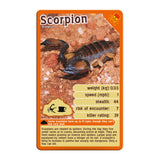 Deadliest Predators -Top Trumps Game, scorpion card