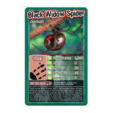 Bugs -Top Trumps Game, black widow spider card
