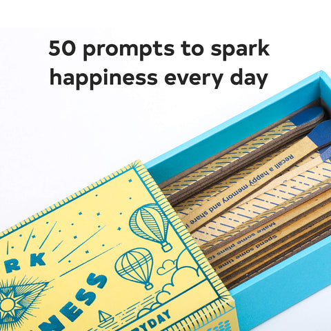 Spark Happiness, open box showing matches, with saying