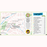 Paris City Trails - Lonely Planet Kids, map and contents pages