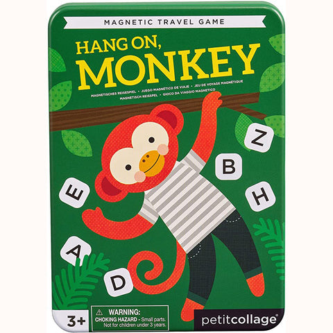 Hang On Monkey - Magnetic Travel Game, front of tin