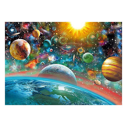 Outer Space Jigsaw Puzzle, finished visual