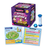 British History Brain Box, die, sand timer and sample cards