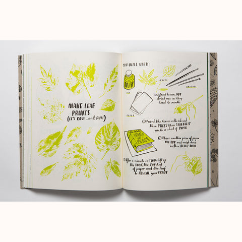 Hello Nature - Draw , Colour, Make and Grow, leaf printing page