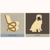 Dogs and Chairs - Designer Pairs, sample page Shar Pei