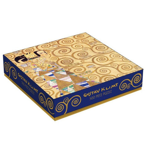 Klimt Expectation Puzzle, flat box from angle