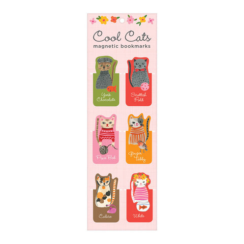 Cool Cats - Magnetic Bookmarks
