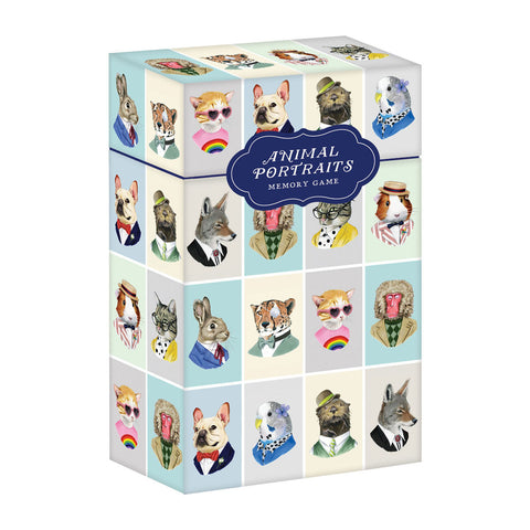 Animal Portraits Memory Game, boxed