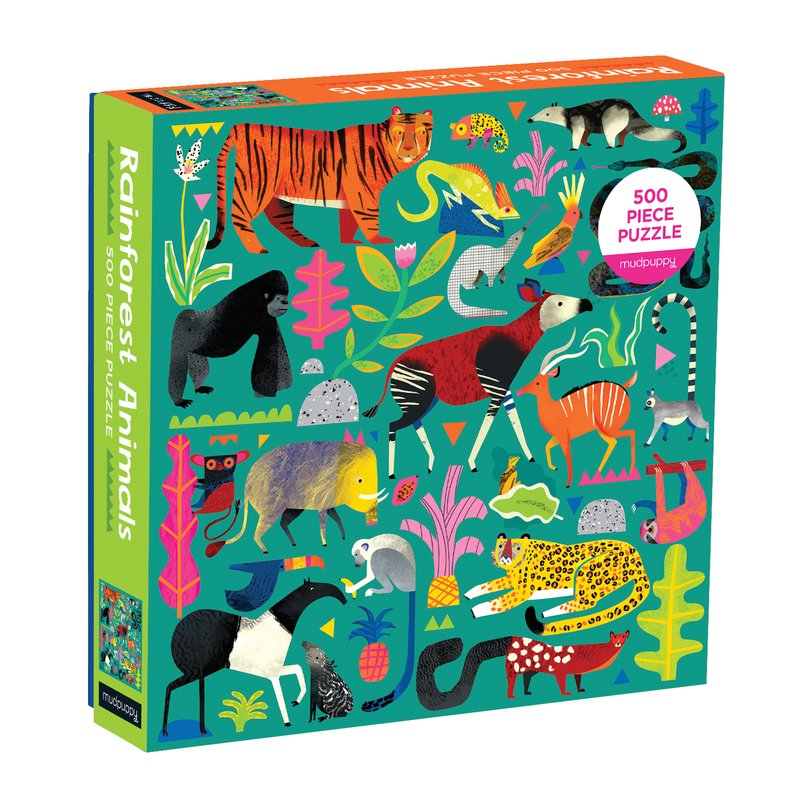 Rainforest Animals Puzzle, boxed on slant