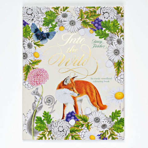 Into the Wild - An Exotic Woodland Colouring Book, front cover