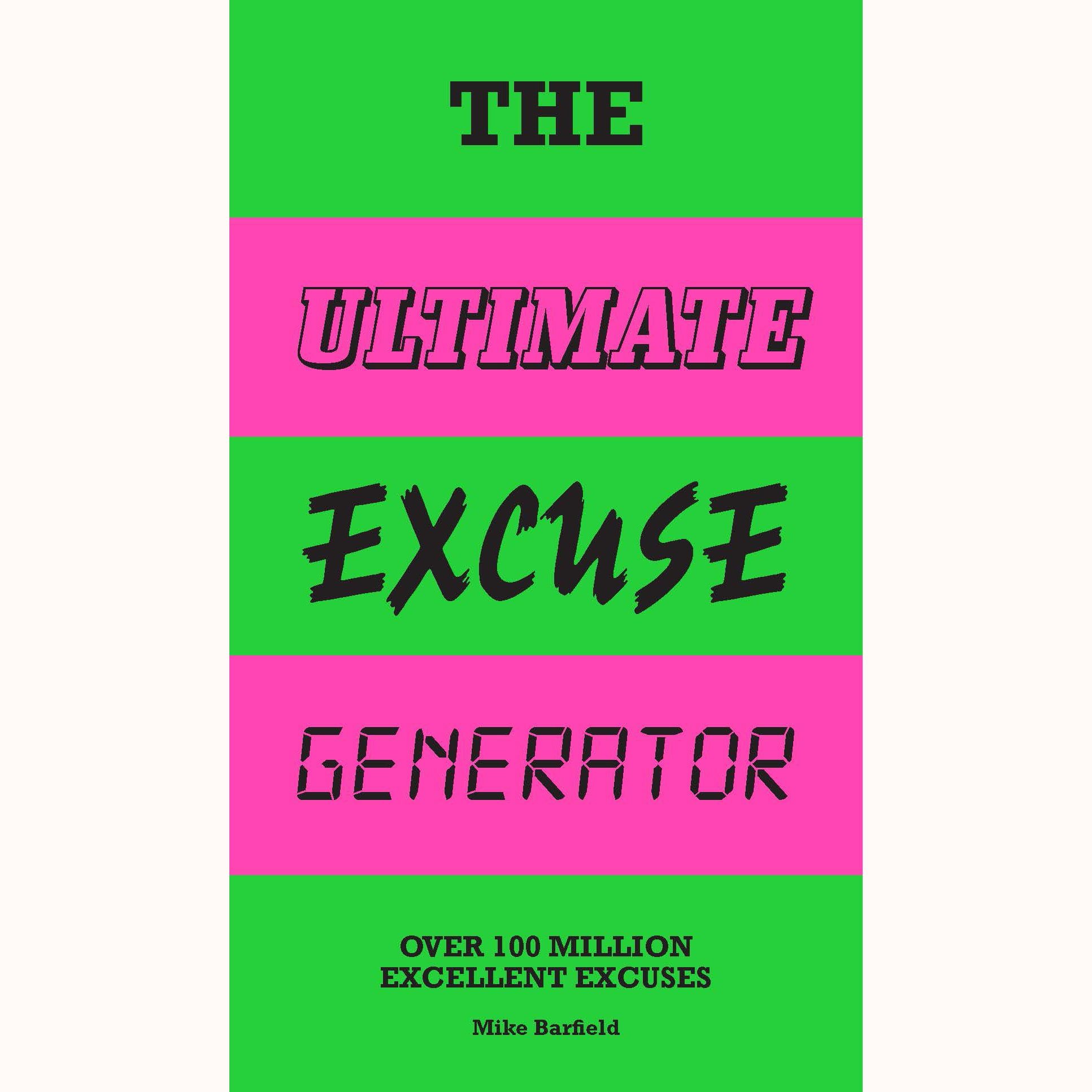 The Ultimate Excuse Generator, front cover