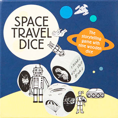 Space Travel Dice, front of box