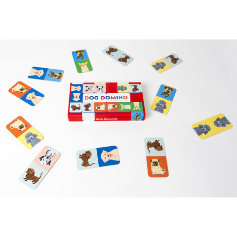 Dog domino, box, and sample cards