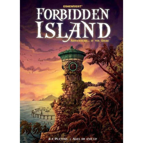 Forbidden Island, illustration on tin