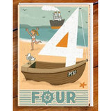 Number 4 card from memory matching game Paul Thurlby