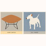 Dogs and Chairs - Designer Pairs, sample page Bull Terrier