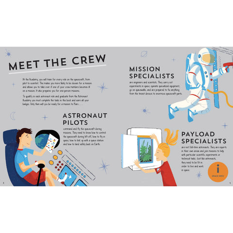astronaut academy meet the crew pages