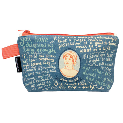 Jane Austen Zipper Bag