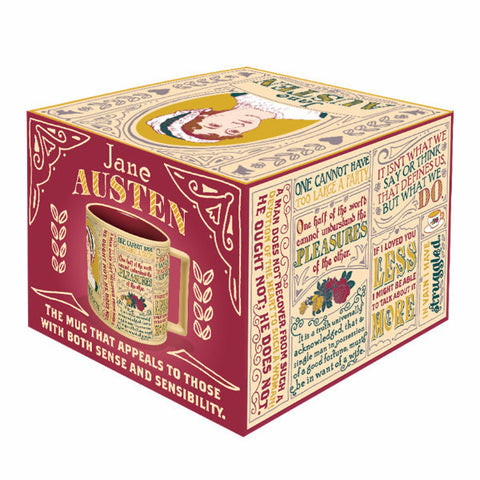 Jane Austen Literary Mug box