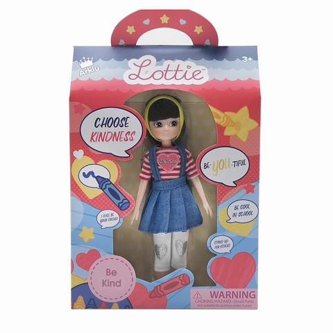 Be Kind Lottie Doll, boxed front on