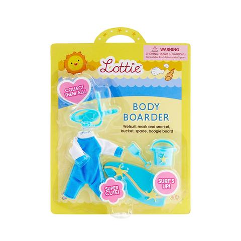 Body Boarder - Lottie Doll Accessory Set, in packaging