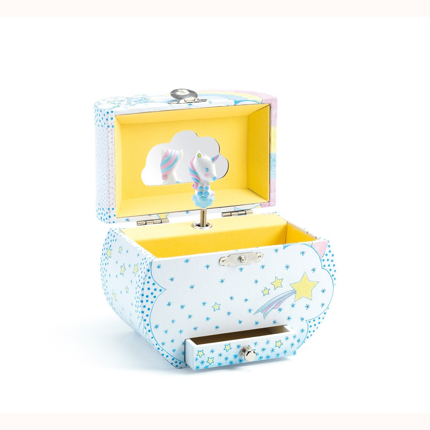 Unicorn's Dream Musical Trinket Box, open displaying figurine