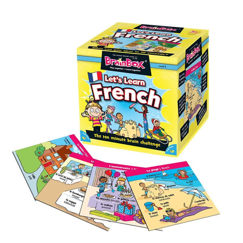 Brainbox let's learn french box and sample cards