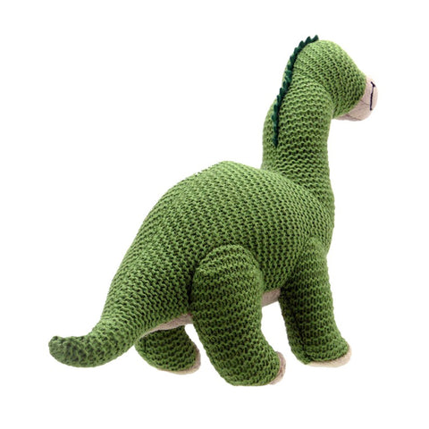 Brontosaurus Knitted Toy, back view