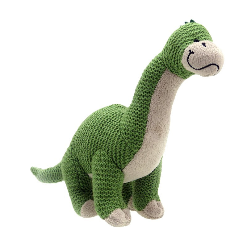 Brontosaurus Knitted Toy, front view