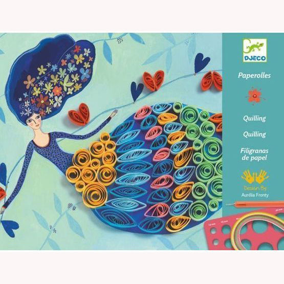 Petticoat Scrolls - Quilling by Djeco, front of box