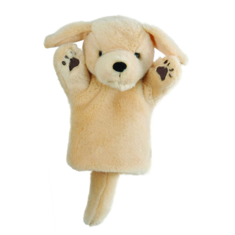 Yellow Labrador Glove Puppet